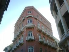 edificio rosado