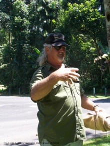 snake wrangler Daintree Rainforest Australia