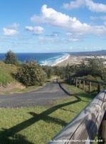 australia moreton island road & beach