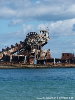 australia moreton island sunken boats 3