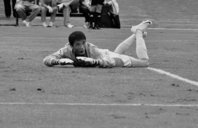 DPR goal keeper on the ground (ENG-DPR)