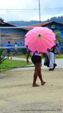 sombrilla de flor en nuquí
