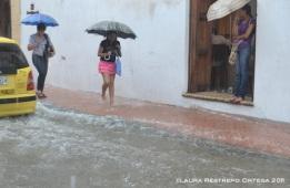inundación en el centro de Cartagena 2