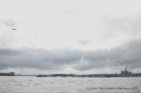 paro de lancheros a la entrada de la bahía de Cartagena 1