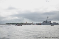paro de lancheros a la entrada de la bahía de Cartagena 2