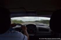 en el carro
