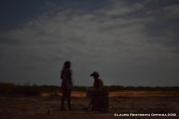 niños Wayyu con un tambor en Loma Fresca