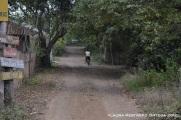 montando en bicicleta en Ayampe