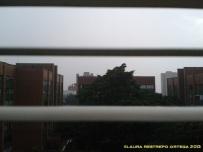 lluvia entre las persianas