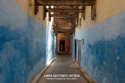 MRC16-Fes medina blue walkway
