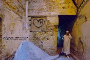 POT7-man walking medina Fes