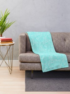 turquoise doodle-throw-blanket